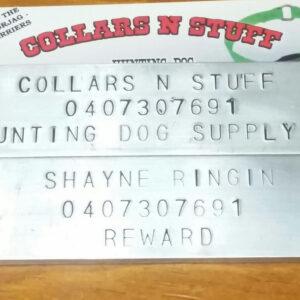 Hound Dog ID plates
